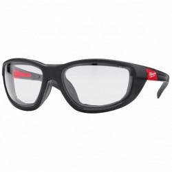 Milwaukee ochranné okuliare PREMIUM s tesnením bezfarebné