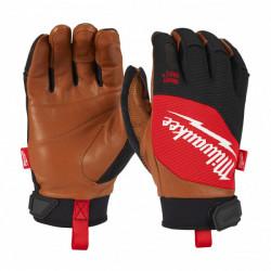Milwaukee hybridné kožené rukavice