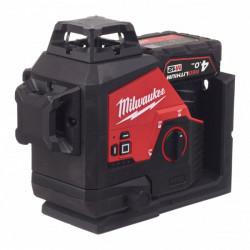 Milwaukee M12 3PL-401C zelený laser s 3 rovinami a uhlom 360°