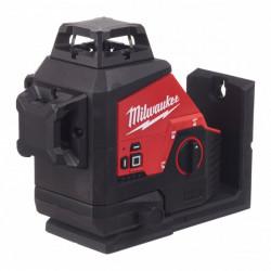 Milwaukee M12 3PL-0C zelený laser s 3 rovinami a uhlom 360°