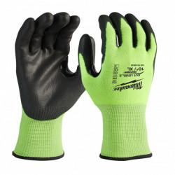 Milwaukee vysoko viditeľné rukavice odolné proti prerezaniu stupeň 3