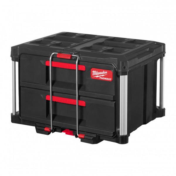 Milwaukee PACKOUT box s 2 zásuvkami