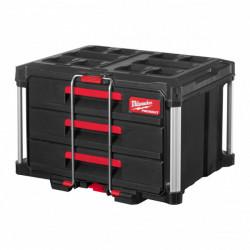 Milwaukee PACKOUT box s 3 zásuvkami