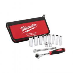"""Milwaukee sada 3/8"""" nástrčných kľúčov s račňou"""