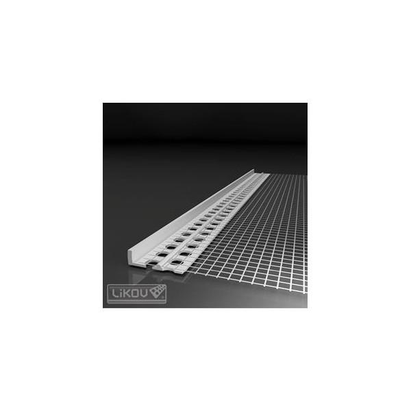 LIKOV lišta PVC ukončovací profil omietky LC-L 2m