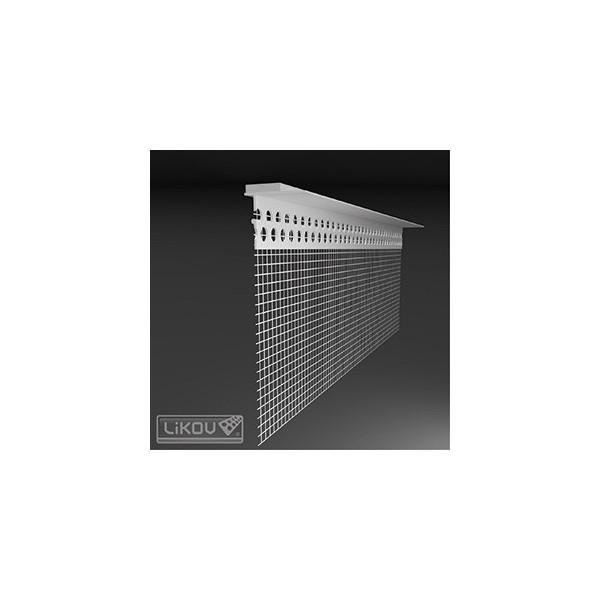 Likov lišta PVC parapetná napojovacia LX-LPE 2m