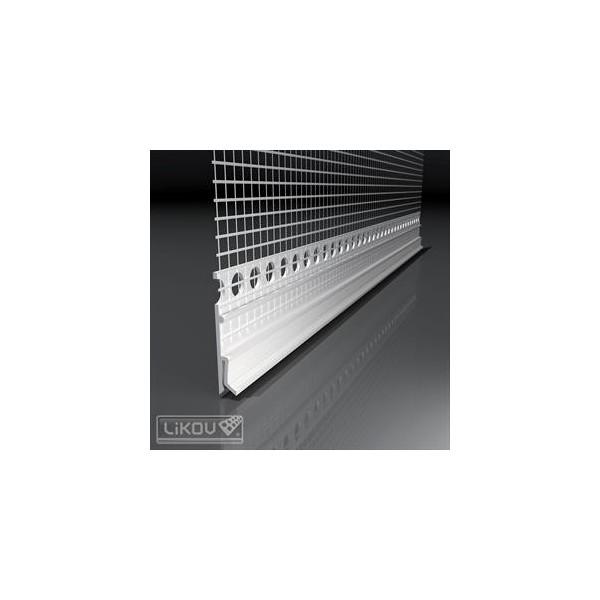 Likov lišta PVC parapetná napojovacia flexibilná LX-H 2m