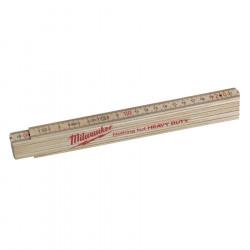 Milwaukee tenký drevený skladací meter 2m